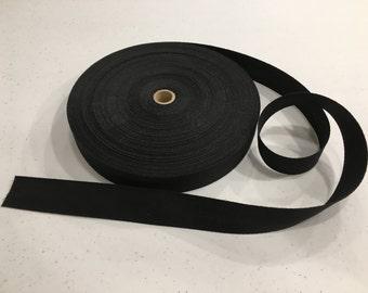 Black Rug Binding Tape, Yards