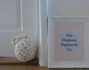 Knitted Nautical Rope Doorstops