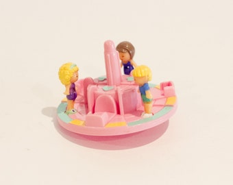 1993 - Complete - Vintage Polly Pocket - Merry-Go-Round Pals (Bluebird Toys)