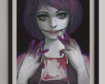 """Am I Pretty? - Original Art Print (A3/11.7""""x16.5"""")"""
