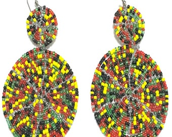 Massai 'Shield' Earrings - Seasons