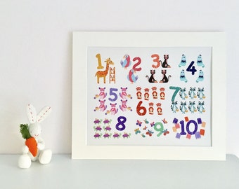 Mounted Numbers Print