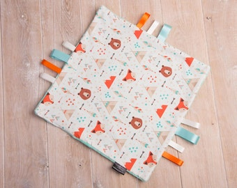 Taggie blanket, baby taggie blanket, baby comforter, personalised taggie, baby shower gift, teether toy