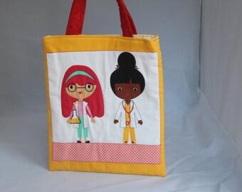 Handmade Cotton Children's Shopping Bag
