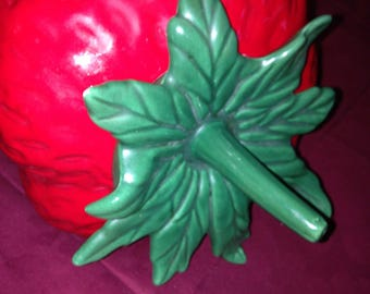 Vintage Strawberry Cookie Jar by Holiday Designs