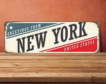 New york Signs, New york Decor, New york Metal Sign, New york Sign, New york art, New york metal decor, metal wall decor, custom metal signs