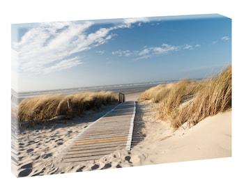 North Sea picture Beach & Sea North Sea poster XXL canvas 120 cm * 80 cm 301 custom like possible