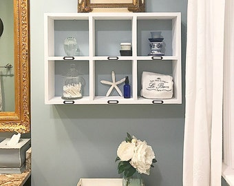 White Bathroom Over The Toilet Storage Bathroom Shelf Floating Shelves Bathroom Wall Organizer
