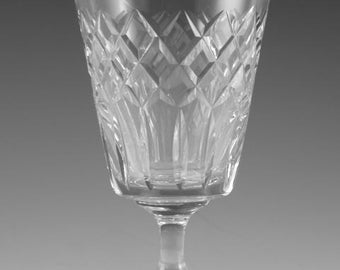 TUDOR Crystal - LATIMER Cut - Wine Glass / Glasses - 5 1/4""