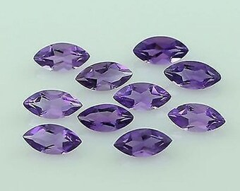 Lot of 25 pcs. AAA natural purple Amethyst marquise cut faceted loose gemstone with free shipping