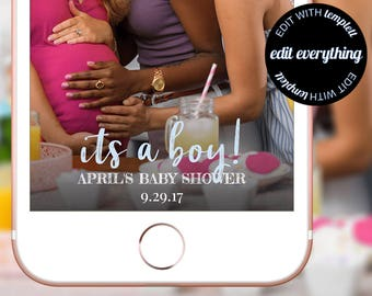 Its a Boy Baby Shower Snapchat Geofilter, Snapchat Baby Shower filter, Baby Shower Geofilter, Baby Shower Snapchat filter, Custom Geofilter