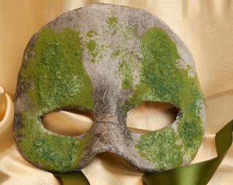 Venetian Style Mossy Half Mask