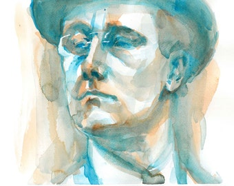 Print of FDR watercolor painting