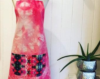 Summer Brights Digitally Printed Pink Apron