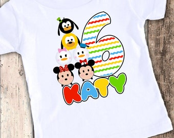 Tsum Tsum Inspired custom designed birthday t shirt tshirt personalized