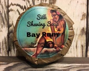Raw Silk Shaving Soap -Bay Rum