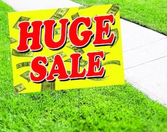 Huge Sale in Store Yard Sign