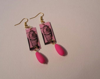 drop earrings, Egyptian Mummy