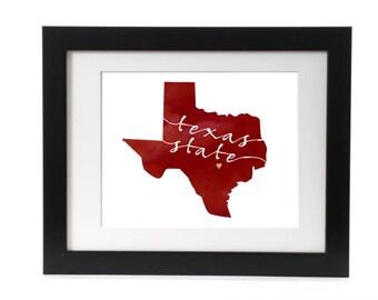 Digital Texas State Print