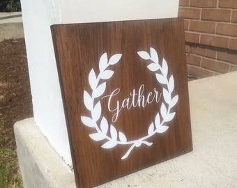Wood Gather Sign