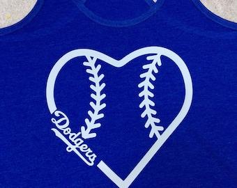 Dodger razor back womens shirt