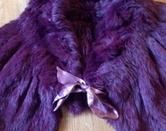 In real rabbit fur scarf