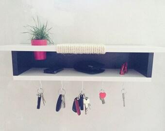Design cat furniture / black & white Special Edition / size L incl. key holder