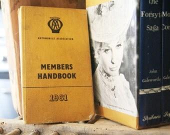 SALE! 25% discount. AA 1961 Member's Handbook, Europe, Vintage