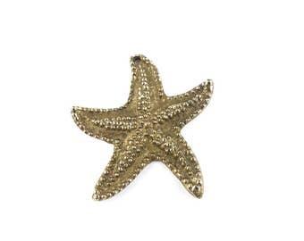 Starfish necklace, pendant, costume jewellery, vintage jewellery 1990, jewellery, gold colour, starfish pendant, beach necklace.