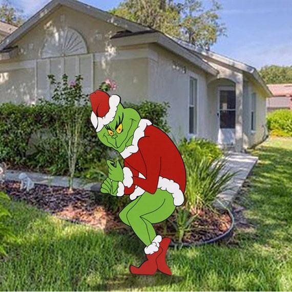 GRINCH Stealing Christmas Lights 48H X 21W Yard