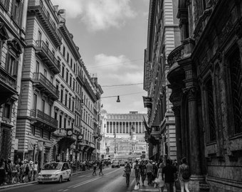 Roman National Monument, Rome, Italy Print, City, Renaissance, Architectural Photo, Rome Photography, Rome Print, Rome Black and white,