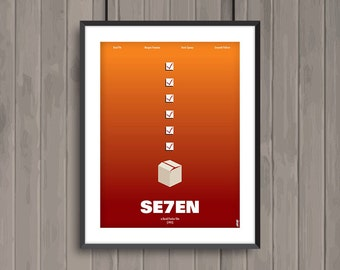 SEVEN, minimalist movie poster