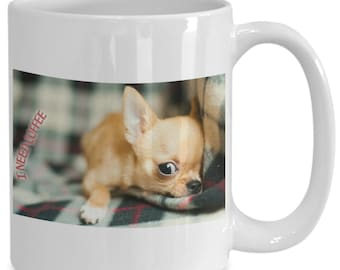 I Need Coffee Lazy Dog Coffee Mug