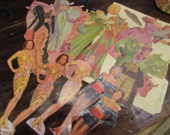 Hedy Lamarr Original Vintage 1950's Paper Dolls, 5 dolls, 18 outfits