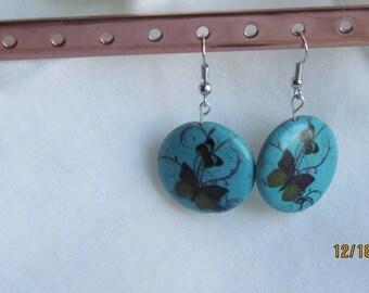 Butterfly Aqua, Dangle Earring