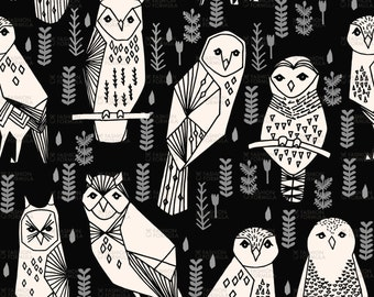 Owl Fabric by andrea_lauren