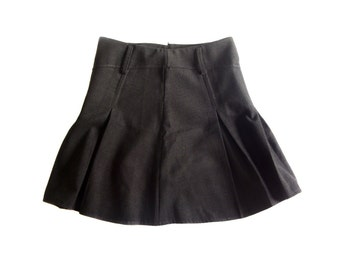Vintage women skirt dark gray 75% wool Made in Italy size XL