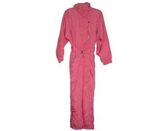 Vintage Etirel ® Le Style Sportif women snowsuit snow pink