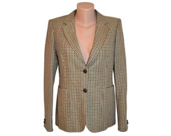 Vintage DAKS ® London Signature women blazer made in Great Britain 100% pure new wool