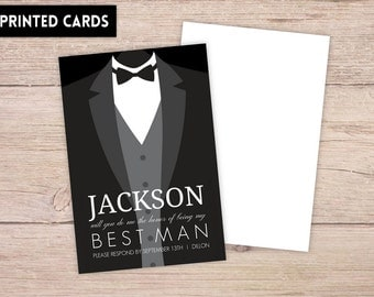 Will You Be My Best Man Card, Will You be My Best Man, Personalised Will You Be My Best Man, best man Card, classic tux