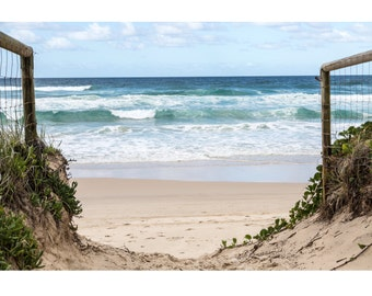 Path to the Ocean - Beach on the Gold Coast, Australia - Photography Print