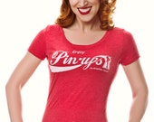 """Vintage Style """"Enjoy Pin-ups"""" Woman's Graphic Tee"""