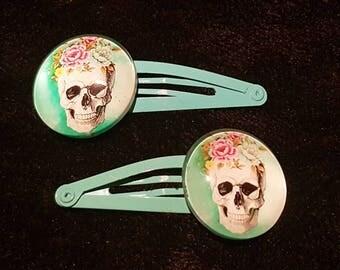 Sugar Skull Hair Clips