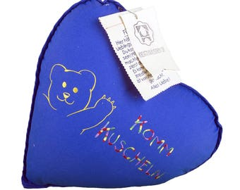 "Cushion heart Teddy ""Come snuggle up"""