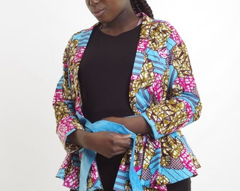 Discount Ankara suit jacket Wax African print