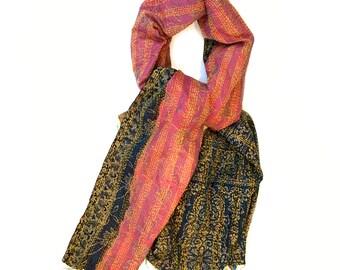 "Kantha Silk Fabric / XL - Scarf ""CALCUTTA"""