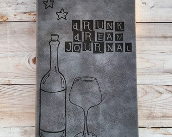 Drunk Dream Journal (large gray)