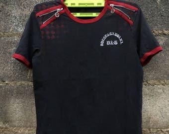 Vintage Dolce Gabbana T-Shirt design zip t-shirt Spellout Dolce Gabbana