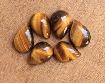 Tiger's Eye Natural pear shape cabochon Gemstone All MM sizes available - 7x10, 8x12, 9x13, 10x14, 12x16, 13x18, 15x20, 16x22, 18x25, 20x30