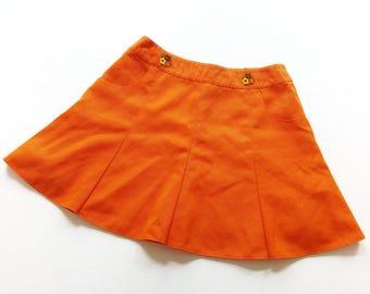 HiPpIe VinTage skirt xs OldSchOol 70s girl WoMan skirt pleated skirt 152 high waist retro